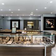Interior showroom at Spicer Greene Jewelers