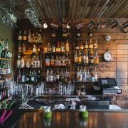 Upstairs bar inside Strada Italiano