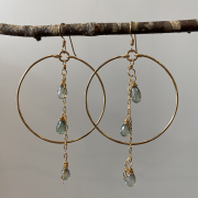 circle earrings with dangling jewels from Embellish Asheville