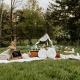 Picnic setup for two by Parkway Picnics