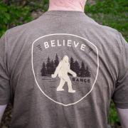 Believe in Bigfoot Tshirt by Range Urgent Care