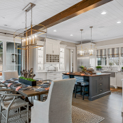 dinning room and kitchen area of beautiful home